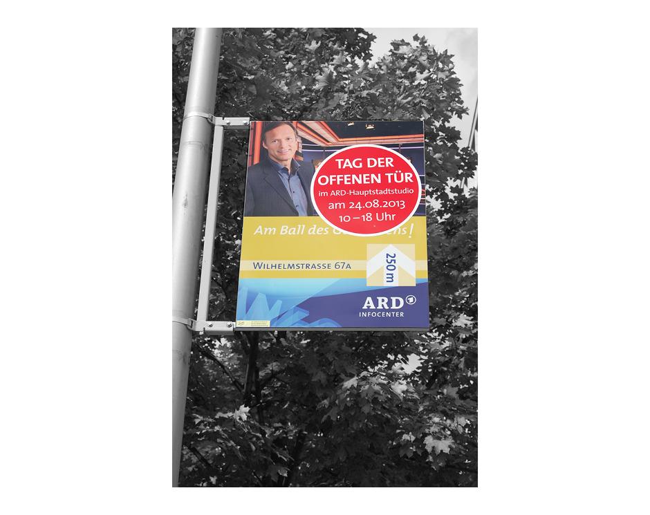 Mastenschild – ARD Hauptstadtstudio