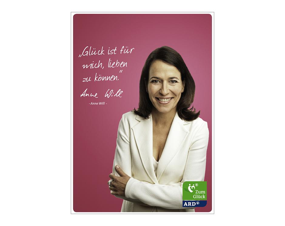 """Themenwoche """"Zum Glück"""" Fensteraufkleber / Postkarte – ARD"""