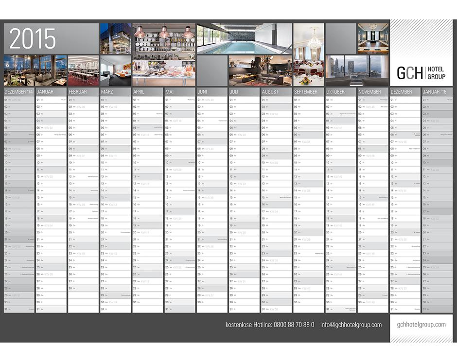 Wandkalender GCH Hotel Group