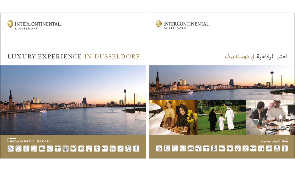 Medical Experts Dusseldorf – Cover englisch (vorne) / arabisch (hinten)