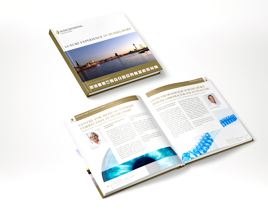 Medical Experts Dusseldorf Cover, 2-sprachig Englisch und Arabisch