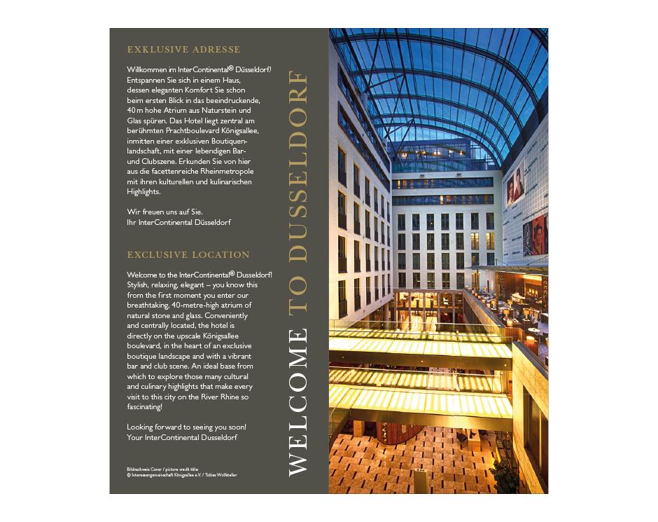 Hausbroschüre InterContinental Düsseldorf