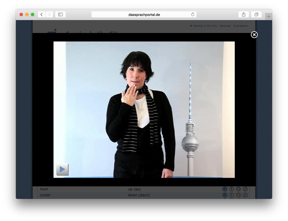 Gebärdensprache Video
