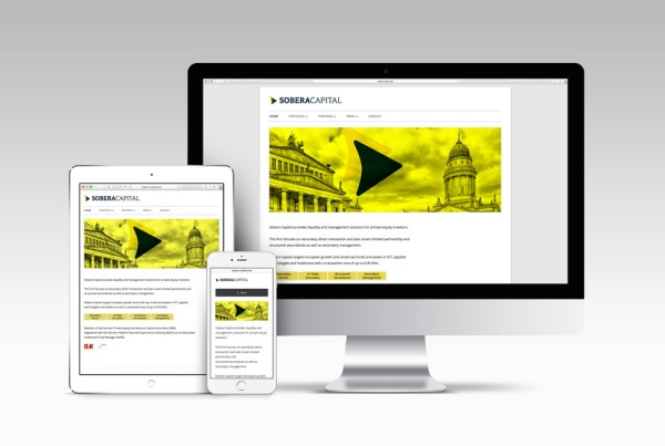 Webdesign – SoberaCapital