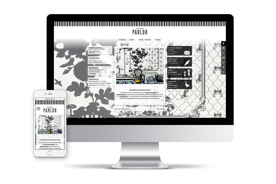 InterContinental Wien Restaurant Parlor Website