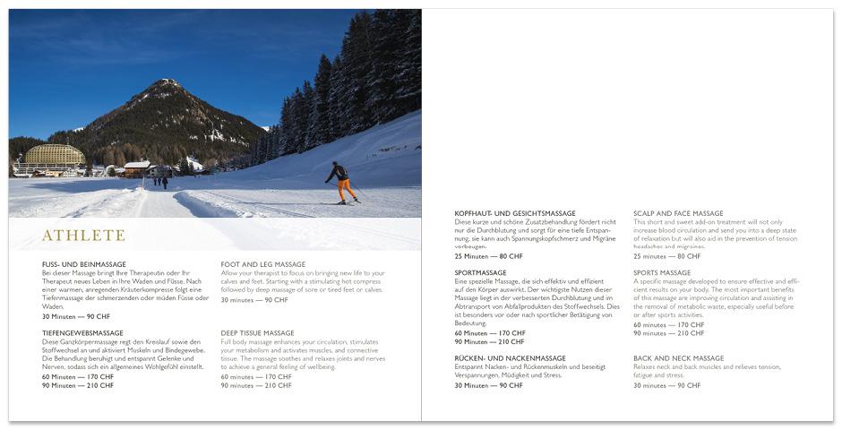 SPA Broschüre – InterContinental Davos - motus Werbeagentur