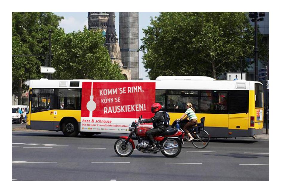 Busbeklebung – visit Berlin