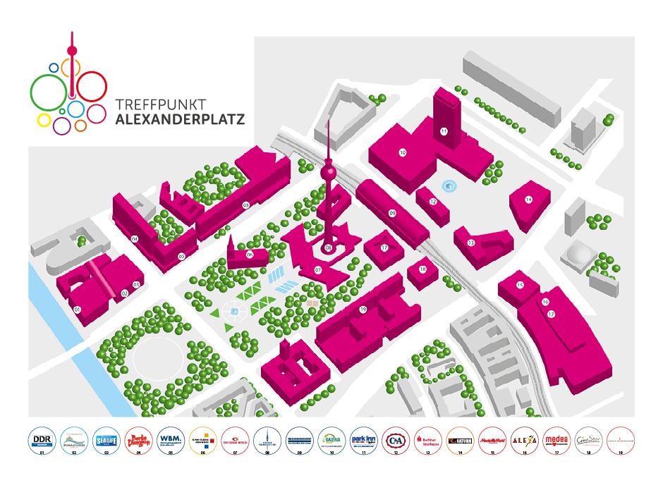3D-Karte – Treffpunkt Alexanderplatz