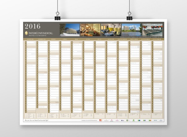 Wandkalender – InterContinental Hotels