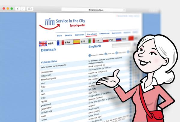 Das Sprachportal - Service in the City