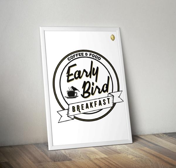 """Promotion-Plakat """"Early Bird Breakfast""""  – InterContinental Wien"""