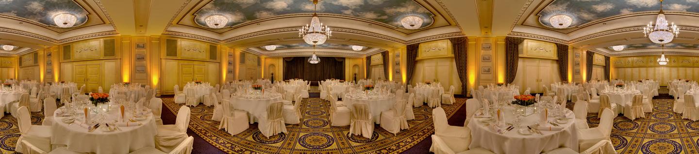 360°-Panoramabild des InterContinental® Wien vom Ballsaal im Original. Foto: InterContinental Wien/Giambatista Pace