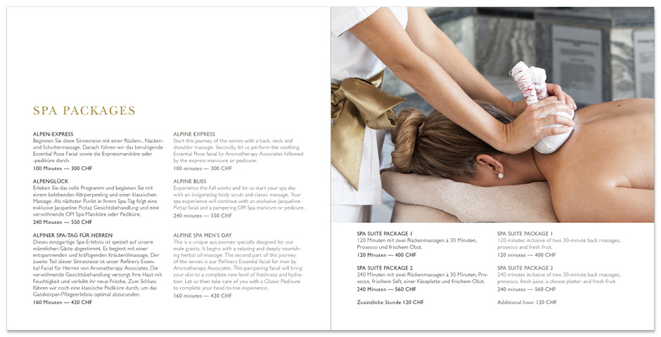 SPA-Broschüre – InterContinental Davos