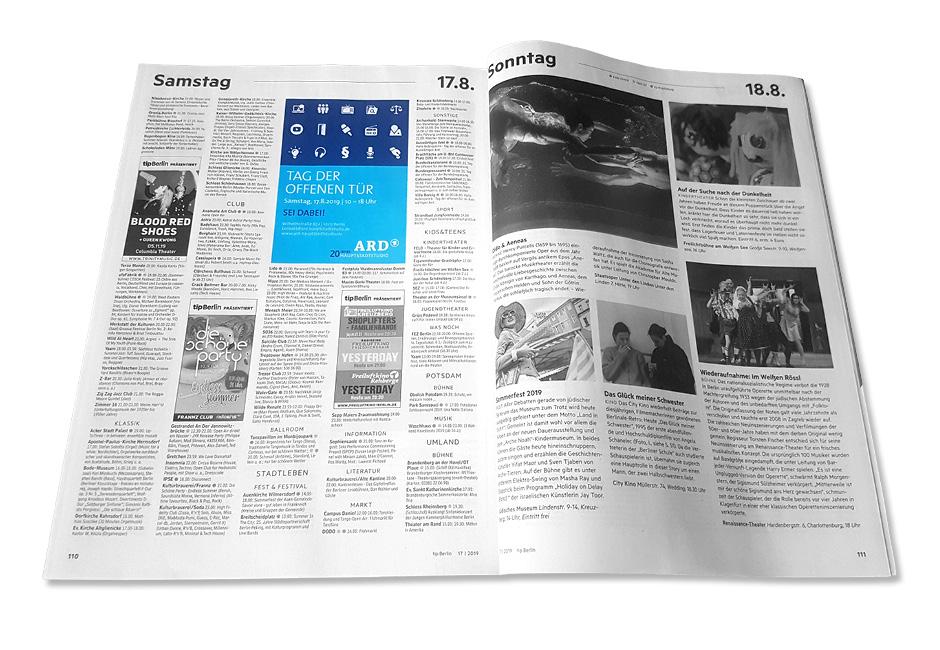 Print-Anzeigen Tag der offenen Tür 2019